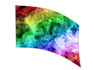 030203s - 36x52 Standard Colorful Smoke