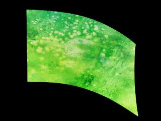 030206s - 36x52 Standard Abstract Green Splatter