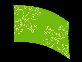 030211s - 36x54 Standard Abstract Green Corner Flora