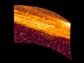 030213s - 36x54 Standard Abstract Orange Maroon Liquid