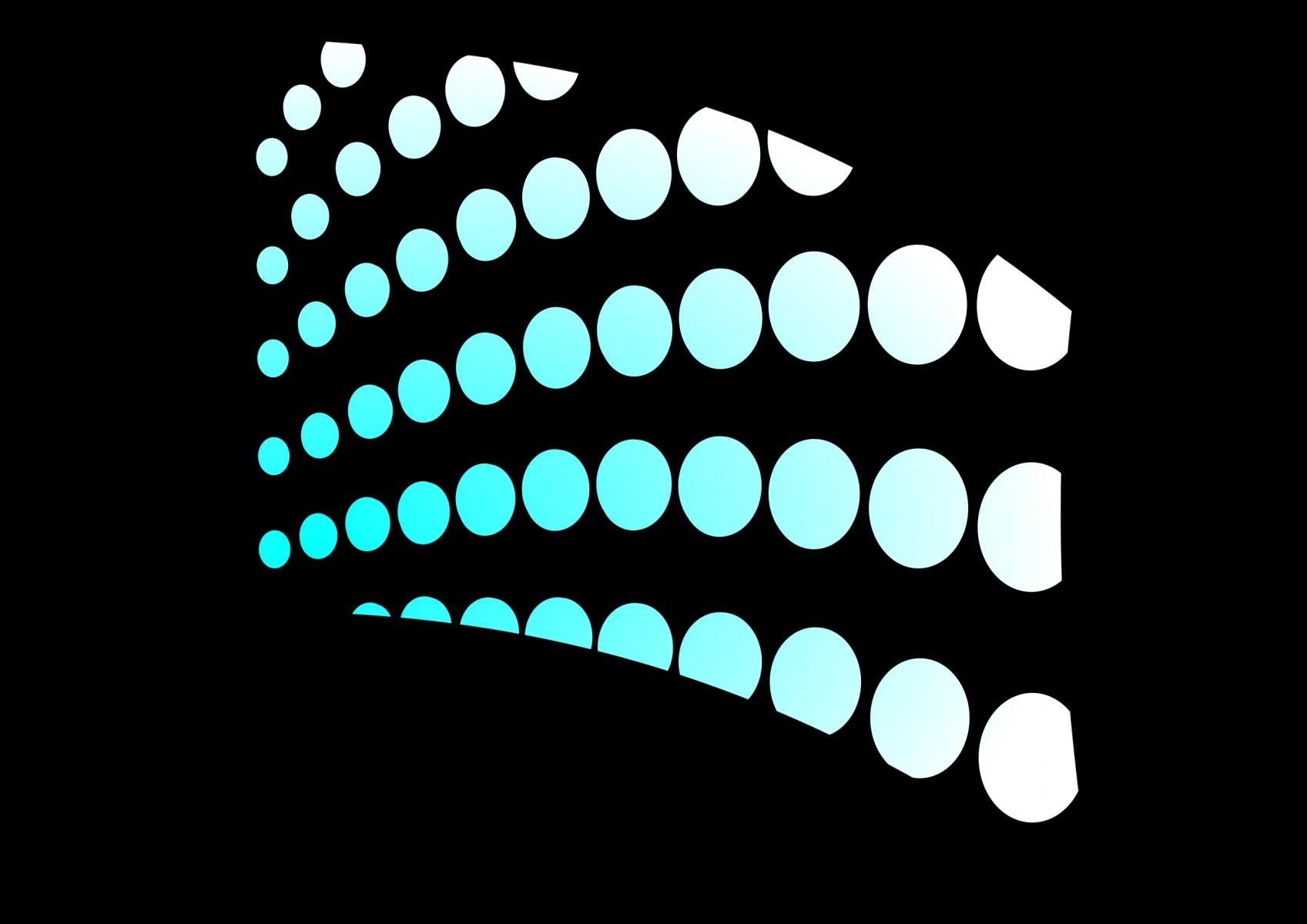 030106s - 36x54 Standard Teal Arced Circles