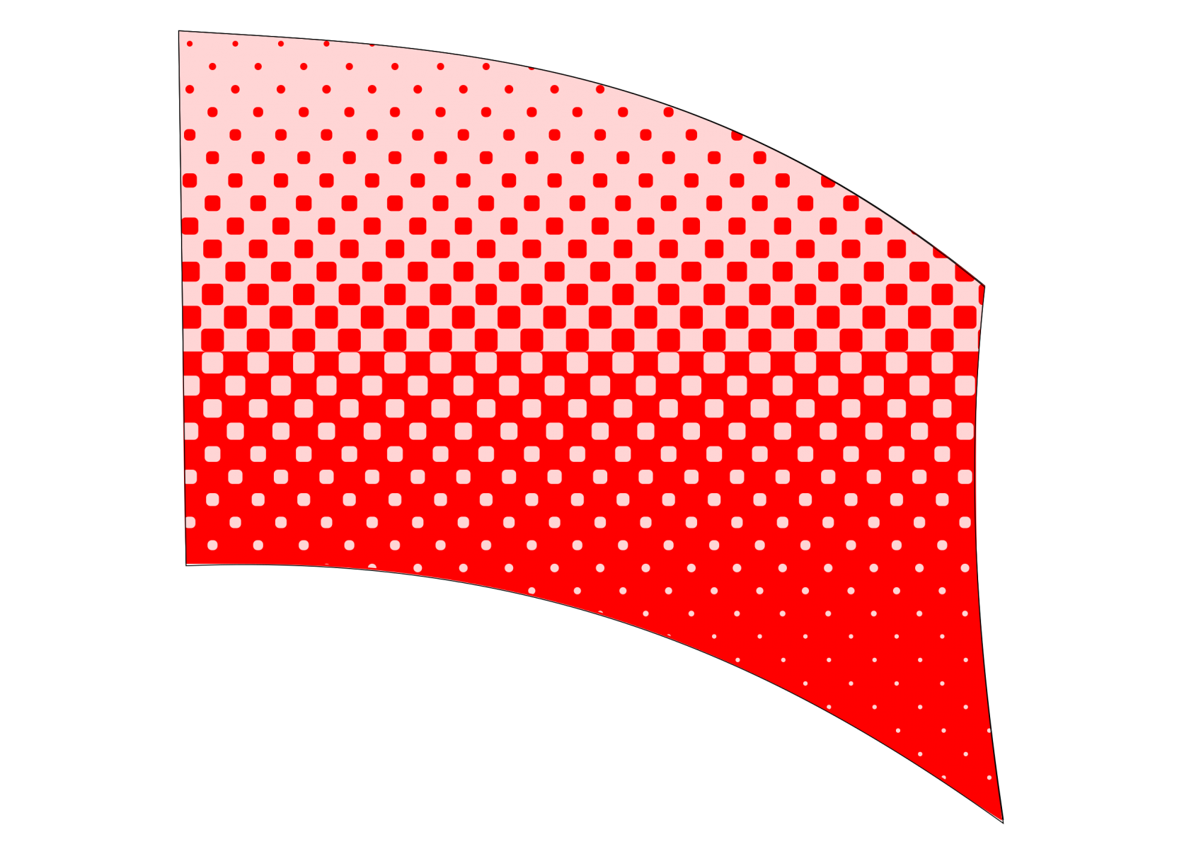 010501s - 36x54 Standard Red Halftone Blend