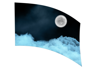 050103s - 36x54 Standard Moon and Clouds
