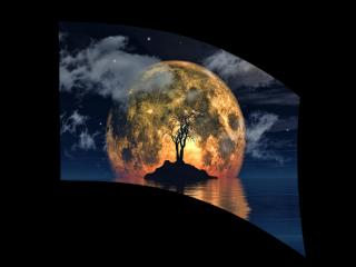 050105s - 36x54 Standard Island Moon