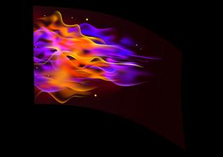 040103s - 36x54 Standard Purple Orange Flames