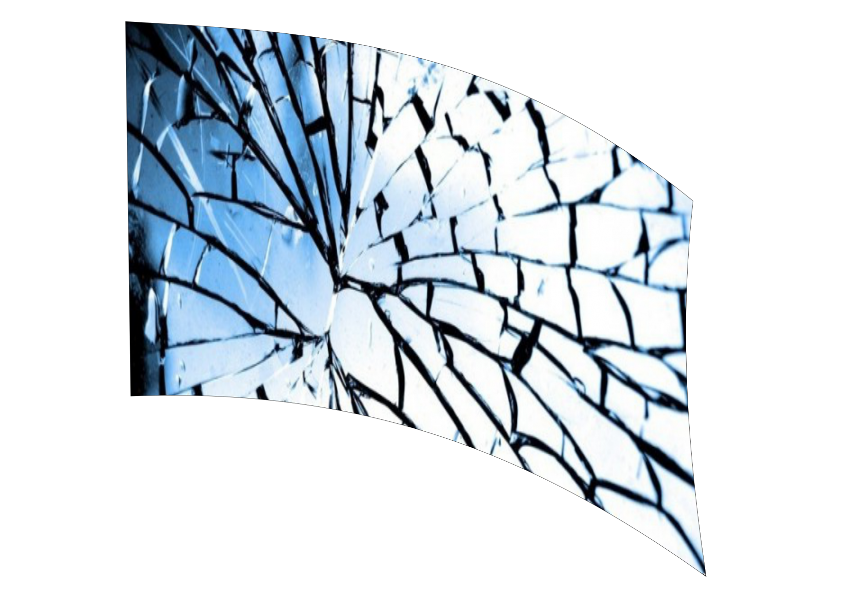 020201s - 36x54 Standard Broken Mirror 1