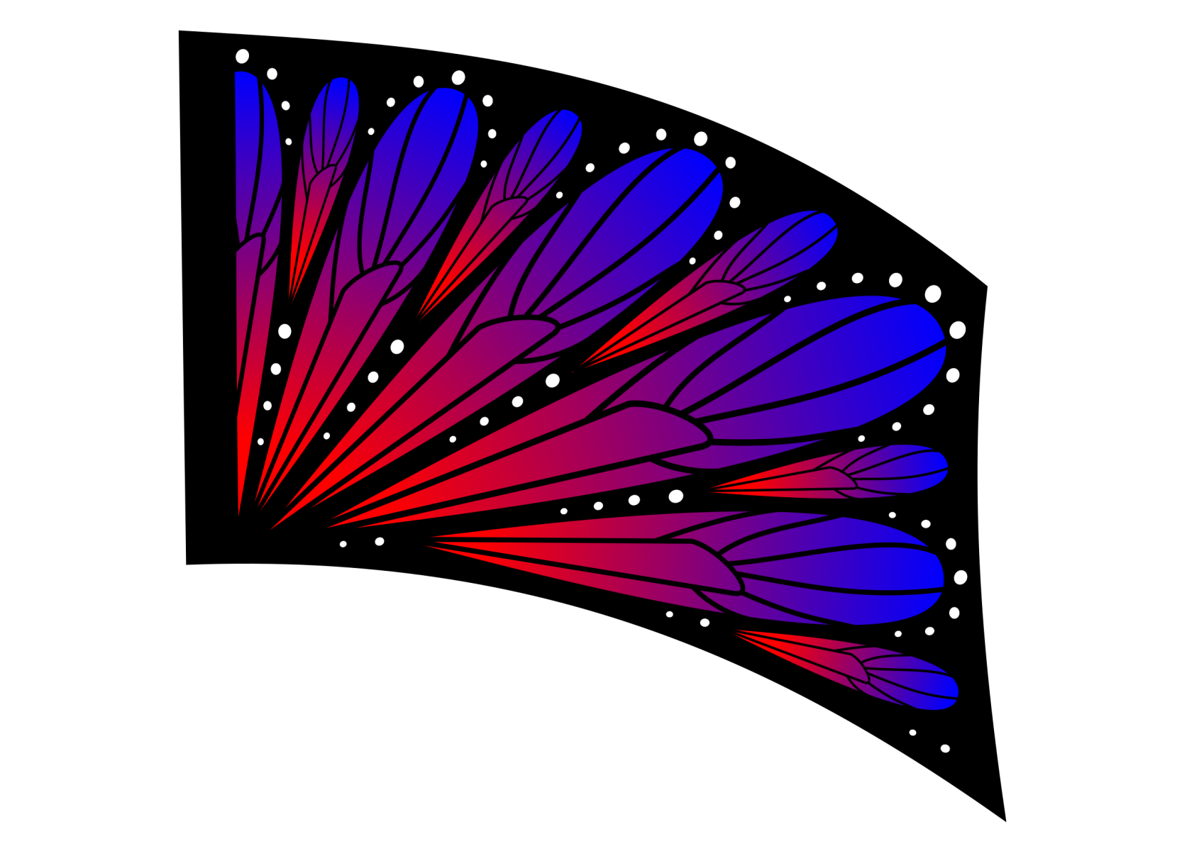 070501s - 36x54 Standard Red-Blue Ombre Butterfly