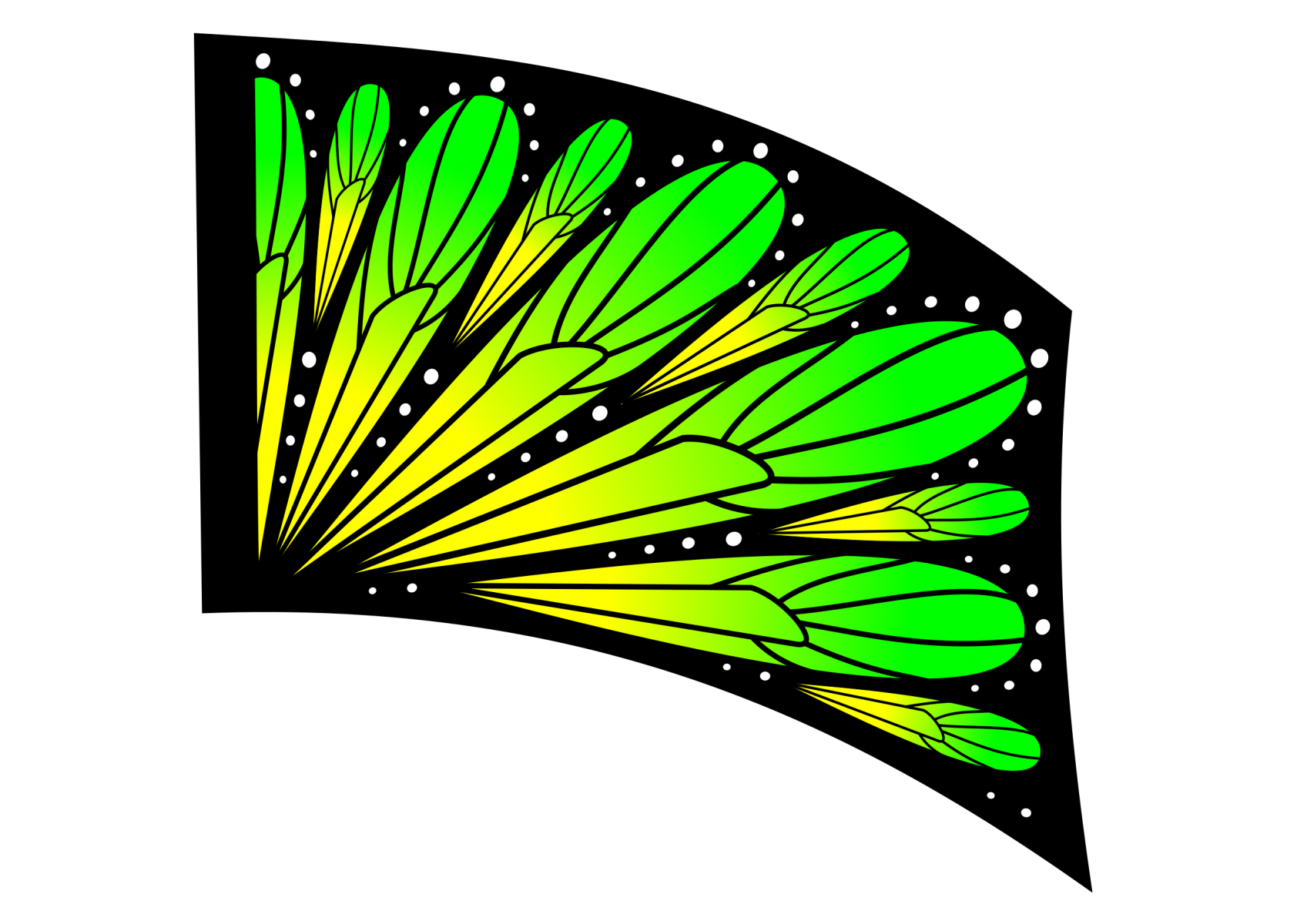 070503s - 36x54 Standard Yellow-Green Ombre Butterfly