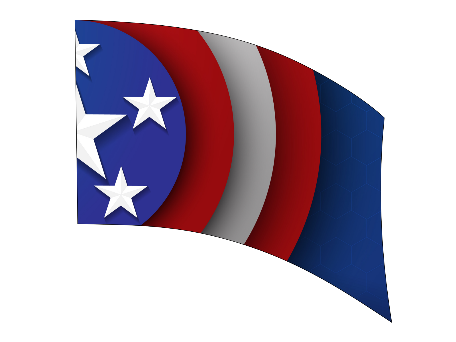 060203s - 36x52 Standard Cpt USA Shield