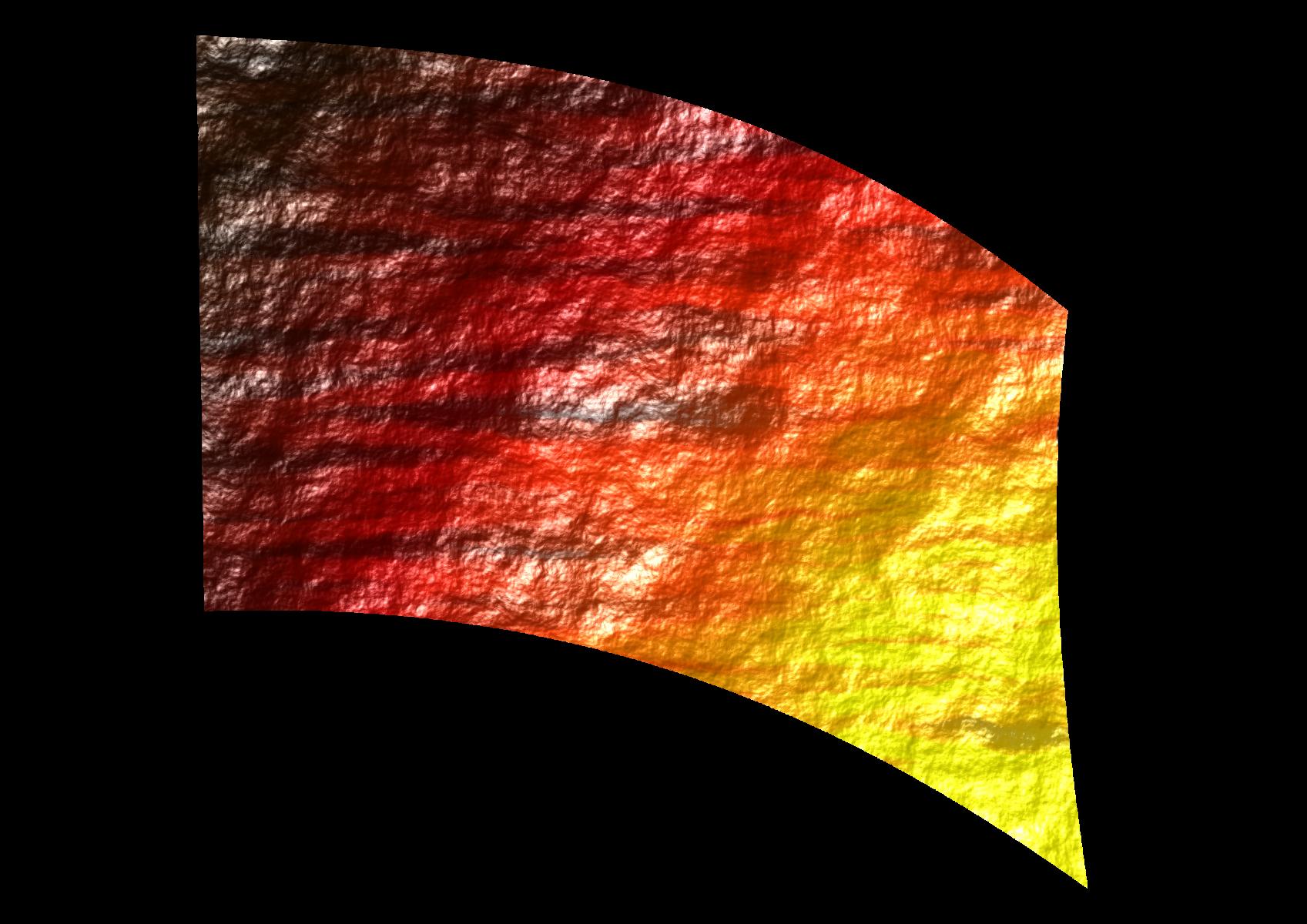 010604s - 36x54 Standard Orange-Yellow Rough Texture Ombre